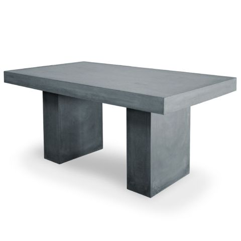 table de repas effet b ton jakarta 160cm gris fonc. Black Bedroom Furniture Sets. Home Design Ideas
