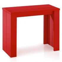 "Console Extensible ""Franciso"" 40-190cm Rouge"