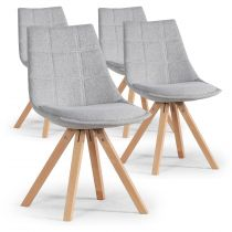 "Lot de 4 Chaises Design ""Blake"" 82cm Gris"