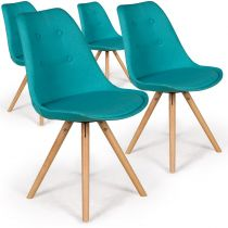 "Lot de 4 Chaises Design ""India"" 82cm Bleu"