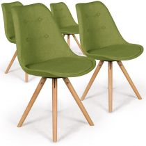 "Lot de 4 Chaises Design ""India"" 82cm Vert"