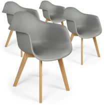 "Lot de 4 Chaises Design ""Leighton"" 79cm Gris"