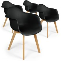 "Lot de 4 Chaises Design ""Leighton"" 79cm Noir"