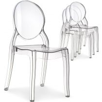 "Lot de 4 Chaises Design ""Beauty"" 89cm Transparent"