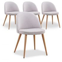 "Lot de 4 Chaises Design ""Morro"" 75cm Gris"