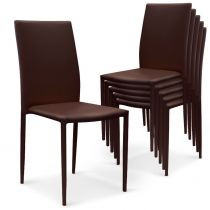 "Lot de 6 Chaises Design ""Roran"" 91cm Marron"