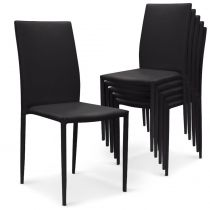 "Lot de 6 Chaises Design ""Roran"" 91cm Noir"