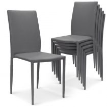 "Lot de 6 Chaises Design ""Roran"" 91cm Gris"