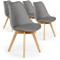 "Lot de 4 Chaises Design ""Wellington"" 79cm Gris"