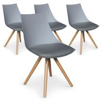 "Lot de 4 Chaises Design ""Medalo"" 79cm Gris"