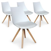 "Lot de 4 Chaises Design ""Medalo"" 79cm Blanc"