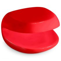 "Table Basse Design ""Divine"" 60cm Rouge"