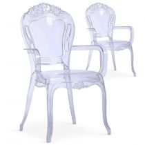 "Lot de 2 Chaises Royales ""Heighness"" 108cm Transparent"