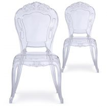 "Lot de 2 Chaises Royales ""Heighness"" 107cm Transparent"