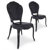 "Lot de 2 Chaises Royales ""Heighness"" 107cm Noir"