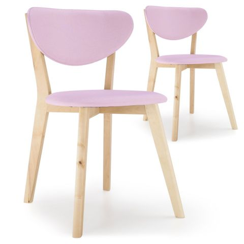 "Lot de 2 Chaises Scandinaves ""Alexandrie"" 79cm Rose"