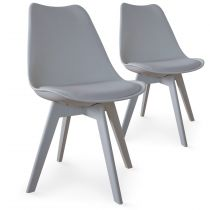 "Lot de 2 Chaises Design ""Maélia"" 82cm Gris"