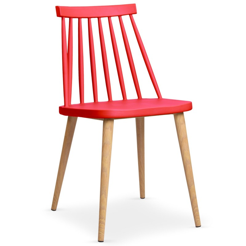 lot de 2 chaises scandinave beaune 77cm rouge. Black Bedroom Furniture Sets. Home Design Ideas