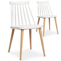 "Lot de 2 Chaises Scandinave ""Beaune"" 77cm Blanc"