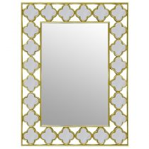 "Miroir Mural Rectangulaire ""Conquest"" 90cm Or"