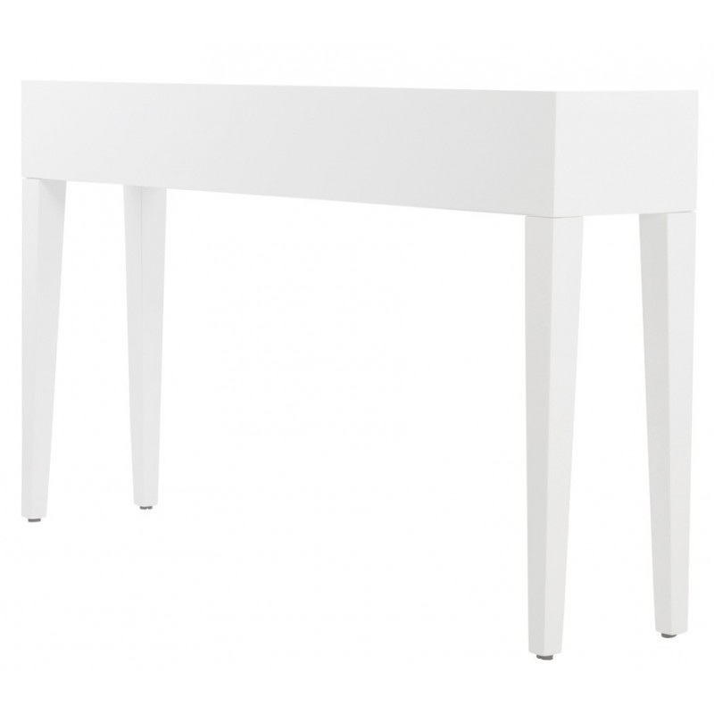 table console unity en bois blanc. Black Bedroom Furniture Sets. Home Design Ideas