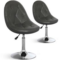 "Lot de 2 Chaises Design ""Ravel"" 52cm Gris"