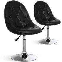 "Lot de 2 Chaises Design ""Ravel"" 52cm Noir"
