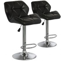 "Lot de 2 Chaises de Bar ""Pranzi"" 110cm Noir"