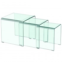 "Table Basse Gigogne ""Bellezza"" 42cm Transparent"
