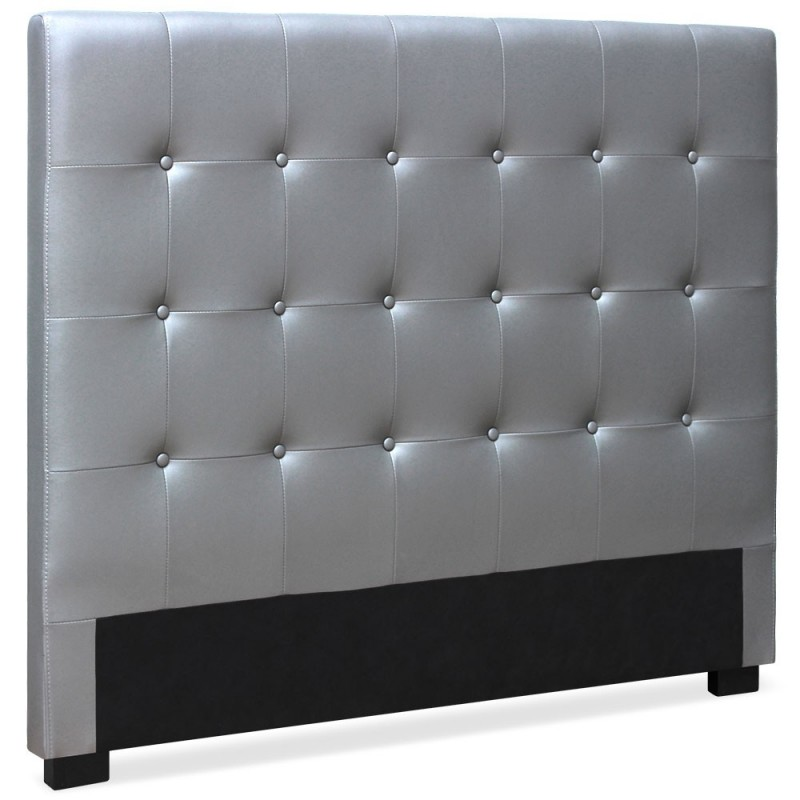 t te de lit capitonn e amor 160cm argent. Black Bedroom Furniture Sets. Home Design Ideas