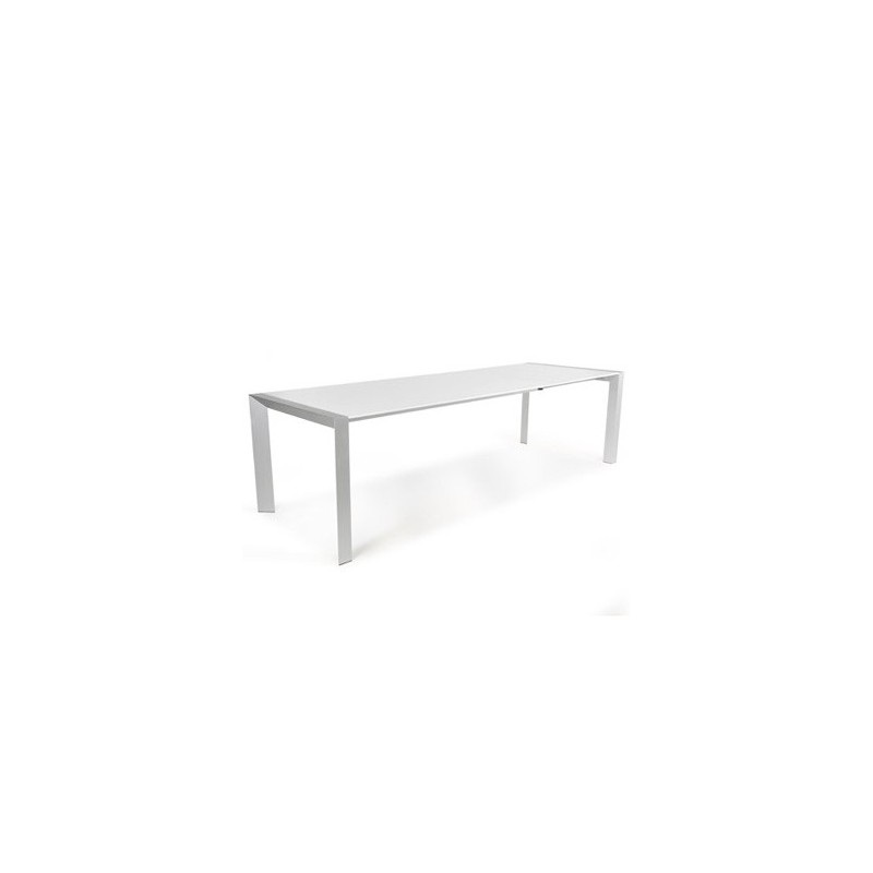 Table de salle manger titanium 190 270cm blanc for Table de salle a manger 85 cm