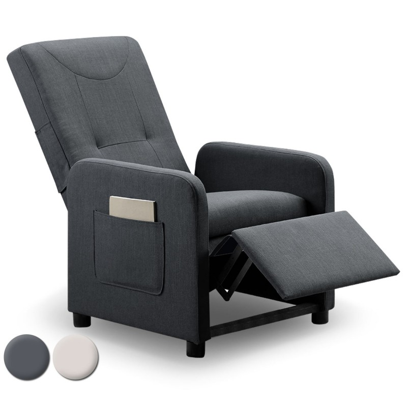 fauteuil design pliable enjoy 65cm gris. Black Bedroom Furniture Sets. Home Design Ideas