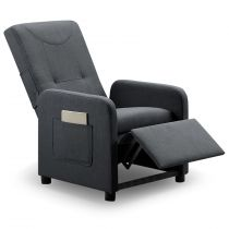 "Fauteuil Design Pliable ""Enjoy"" 65cm Gris"