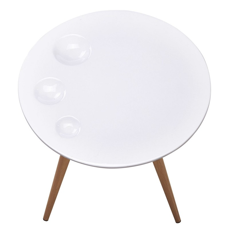 table d 39 appoint scandinave pedro 60cm blanc. Black Bedroom Furniture Sets. Home Design Ideas