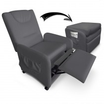 "Fauteuil Design Relax Pliable ""Enjoy"" 64cm Gris"