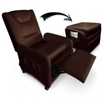 "Fauteuil Design Relax Pliable ""Enjoy"" 64cm Marron"