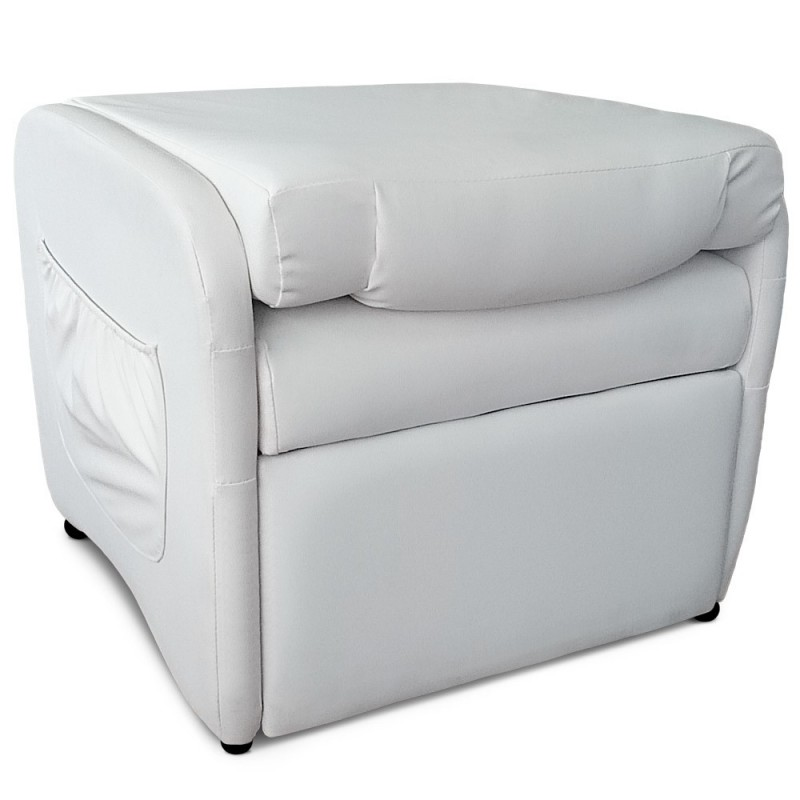 fauteuil design relax pliable enjoy 64cm blanc. Black Bedroom Furniture Sets. Home Design Ideas