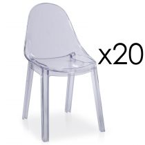 "Lot de 20 Chaises Design ""Équivoque"" 81cm Transparent"