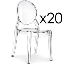 "Lot de 20 Chaises Design ""Beauty"" 89cm Transparent"