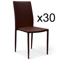 "Lot de 30 Chaises Design ""Roran"" 91cm Marron"