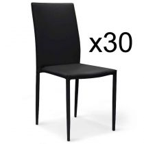 "Lot de 30 Chaises Design ""Roran"" 91cm Noir"