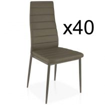 "Lot de 40 Chaises Design ""Kaïus"" 95cm Taupe"