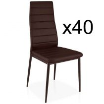 "Lot de 40 Chaises Design ""Kaïus"" 95cm Marron"
