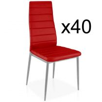 "Lot de 40 Chaises Design ""Kaïus"" 95cm Rouge"