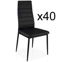 "Lot de 40 Chaises Design ""Kaïus"" 95cm Noir"