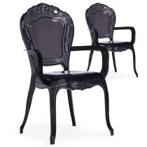 "Lot de 2 Chaises Royales ""Heighness"" 108cm Noir"