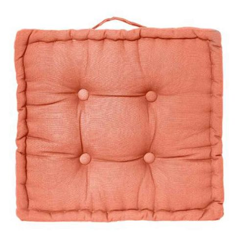 coussin de sol 40x40cm corail. Black Bedroom Furniture Sets. Home Design Ideas