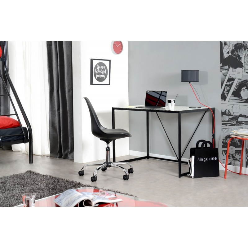 bureau en verre maps 100cm blanc. Black Bedroom Furniture Sets. Home Design Ideas