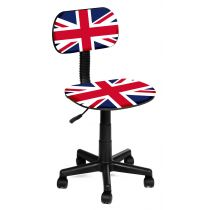 "Chaise de Bureau ""London"" 74-86cm Multicolore"