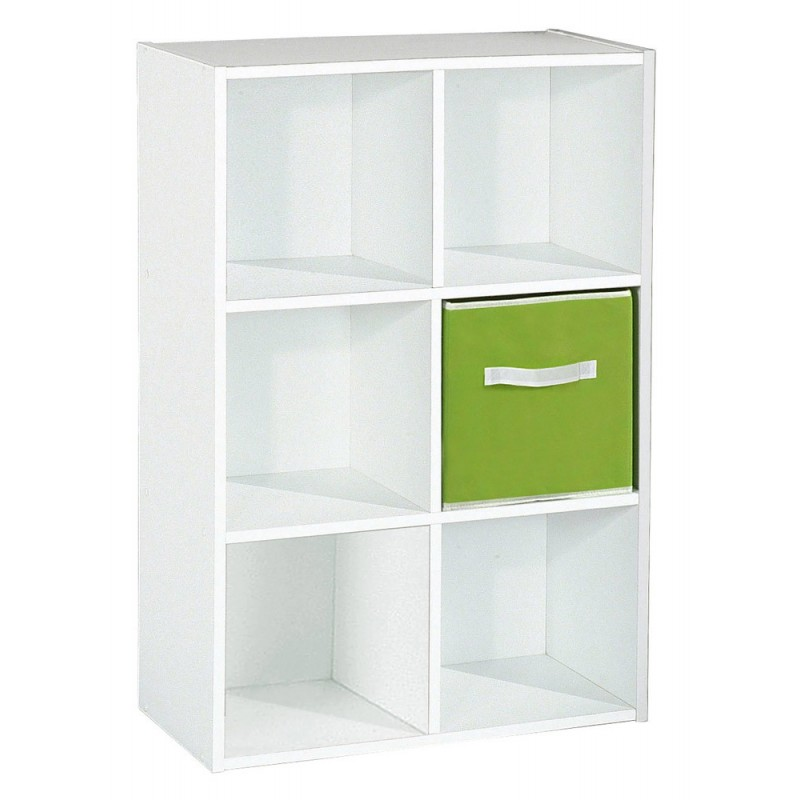 meuble de rangement 6 cases malt 91cm blanc. Black Bedroom Furniture Sets. Home Design Ideas